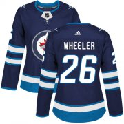 Wholesale Cheap Adidas Jets #26 Blake Wheeler Navy Blue Home Authentic Women's Stitched NHL Jersey