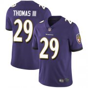 Wholesale Cheap Nike Ravens #29 Earl Thomas III Purple Team Color Men's Stitched NFL Vapor Untouchable Limited Jersey