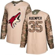 Wholesale Cheap Adidas Coyotes #35 Darcy Kuemper Camo Authentic 2017 Veterans Day Stitched NHL Jersey