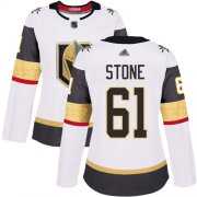 Wholesale Cheap Adidas Golden Knights #61 Mark Stone White Road Authentic Women's Stitched NHL Jersey