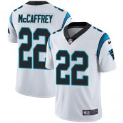 Wholesale Cheap Nike Panthers #22 Christian McCaffrey White Youth Stitched NFL Vapor Untouchable Limited Jersey