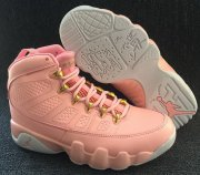 Wholesale Cheap Womens Air Jordan 9 Retro Shoes Pink/White-Gold