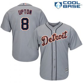 Wholesale Cheap Tigers #8 Justin Upton Grey Cool Base Stitched Youth MLB Jersey