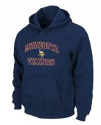 Wholesale Cheap Minnesota Vikings Heart & Soul Pullover Hoodie Dark Blue