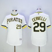 Wholesale Pirates #29 Francisco Cervelli White Flexbase Authentic Collection Cooperstown Stitched Baseball Jersey