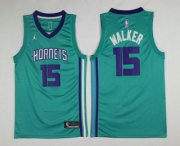 Wholesale Cheap Men's New Orleans Pelicans #15 Kemba Walker Green 2017-2018 Jordan Swingman Stitched NBA Jersey