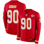 Wholesale Cheap Nike Chiefs #90 Emmanuel Ogbah Red Team Color Men's Stitched NFL Limited Therma Long Sleeve Jersey