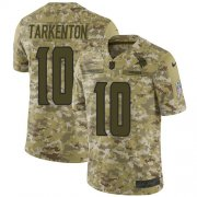Wholesale Cheap Nike Vikings #10 Fran Tarkenton Camo Men's Stitched NFL Limited 2018 Salute To Service Jersey