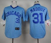 Wholesale Cheap Cubs #31 Greg Maddux Blue(White Strip) Cooperstown Throwback Stitched MLB Jersey