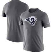 Wholesale Cheap Los Angeles Rams Nike Essential Logo Dri-FIT Cotton T-Shirt Heather Charcoal