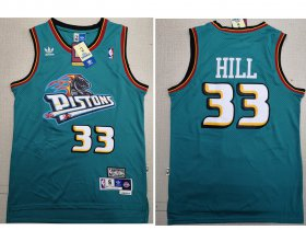 Wholesale Cheap Detroit Pistons 33 Grant Hill Swingman Green Throwback Adidas Jersey