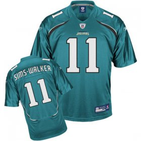 Wholesale Cheap Jaguars Mike Sims-Walker #11 Green Stitched Team Color NFL Jersey