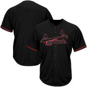 Wholesale Cheap St. Louis Cardinals Majestic Big & Tall Pop Fashion V-Neck Jersey Black