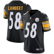 Wholesale Cheap Nike Steelers #58 Jack Lambert Black Team Color Men's Stitched NFL Vapor Untouchable Limited Jersey