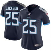 Wholesale Cheap Nike Titans #25 Adoree' Jackson Navy Blue Team Color Women's Stitched NFL Vapor Untouchable Limited Jersey