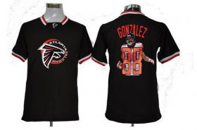 Wholesale Cheap Nike Falcons #88 Tony Gonzalez Black Men\'s NFL Game All Star Fashion Jersey