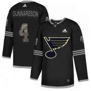 Wholesale Cheap Adidas Blues #4 Carl Gunnarsson Black Authentic Classic Stitched NHL Jersey