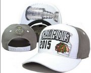 Wholesale Cheap NHL Chicago Blackhawks 2015 Stanley Cup Champions Clean-Up Adjustable Hat LH23