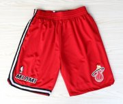 Wholesale Cheap Miami Heat Red Throwback Short