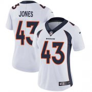 Wholesale Cheap Nike Broncos #43 Joe Jones White Women's Stitched NFL Vapor Untouchable Limited Jersey