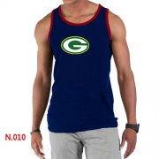 Wholesale Cheap Men's Nike NFL Green Bay Packers Sideline Legend Authentic Logo Tank Top Dark Blue_2