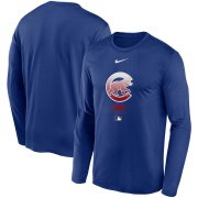 Wholesale Cheap Men's Chicago Cubs Nike Royal Authentic Collection Legend Performance Long Sleeve T-Shirt