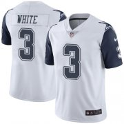 Wholesale Cheap Nike Cowboys #3 Mike White White Men's Stitched NFL Limited Rush Jersey