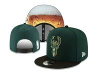 Wholesale Cheap Milwaukee Bucks Snapback Ajustable Cap Hat YD 3