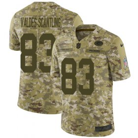 Wholesale Cheap Nike Packers #83 Marquez Valdes-Scantling Camo Men\'s Stitched NFL Limited 2018 Salute To Service Jersey