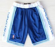 Wholesale Cheap Los Angeles Lakers Blue Throwback Short