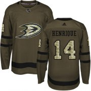 Wholesale Cheap Adidas Ducks #14 Adam Henrique Green Salute to Service Youth Stitched NHL Jersey