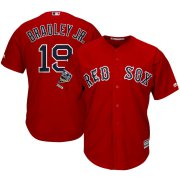Wholesale Cheap Boston Red Sox #19 Jackie Bradley Jr. Majestic 2018 World Series Champions Alternate Cool Base Player Jersey Scarlet