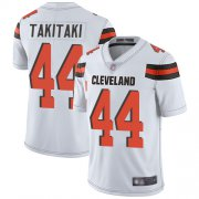 Wholesale Cheap Nike Browns #44 Sione Takitaki White Men's Stitched NFL Vapor Untouchable Limited Jersey