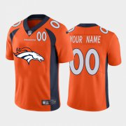 Wholesale Cheap Denver Broncos Orange Custom Men's Nike Big Team Logo Player Vapor Limited NFL Jersey