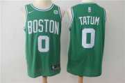 Wholesale Cheap Nike Celtics 0 Jayson Tatum Green Stitched Swingman Jersey