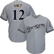 Wholesale Cheap Brewers #12 Stephen Vogt Grey Cool Base Stitched Youth MLB Jersey
