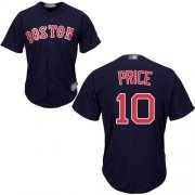 Wholesale Cheap Red Sox #10 David Price Navy Blue Cool Base Stitched Youth MLB Jersey