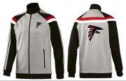 Wholesale Cheap NFL Atlanta Falcons Team Logo Jacket Grey