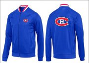 Wholesale Cheap NHL Montreal Canadiens Zip Jackets Blue-1