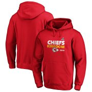 Wholesale Cheap Kansas City Chiefs 2019 NFL Playoffs Bound Hometown Checkdown Pullover Hoodie Red