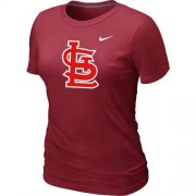 Wholesale Cheap Women's St.Louis Cardinals Heathered Nike Red Blended T-Shirt