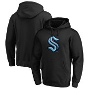 Wholesale Cheap Seattle Kraken Primary Logo Pullover Hoodie Black