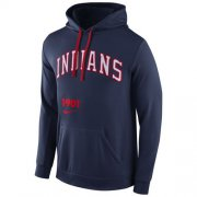 Wholesale Cheap Cleveland Indians Nike Cooperstown Performance Pullover Navy Blue MLB Hoodie