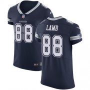 Wholesale Cheap Nike Cowboys #88 CeeDee Lamb Navy Blue Team Color Men's Stitched NFL Vapor Untouchable Elite Jersey