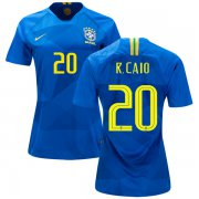 Wholesale Cheap Women's Brazil #20 R.Caio Away Soccer Country Jersey