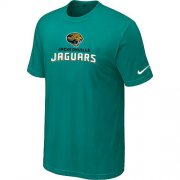 Wholesale Cheap Nike Jacksonville Jaguars Authentic Logo NFL T-Shirt Lingt Green