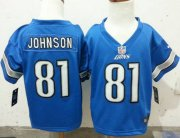 Wholesale Toddler Nike Lions #81 Calvin Johnson Blue Team Color Stitched NFL Elite Jersey