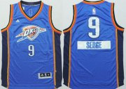 Wholesale Cheap Oklahoma City Thunder #9 Serge Ibaka Revolution 30 Swingman 2014 Christmas Day Blue Jersey