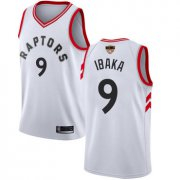 Wholesale Cheap Raptors #9 Serge Ibaka White 2019 Finals Bound Women's Basketball Swingman Association Edition Jersey