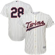 Wholesale Cheap Twins #28 Bert Blyleven Cream Strip Cool Base Stitched Youth MLB Jersey